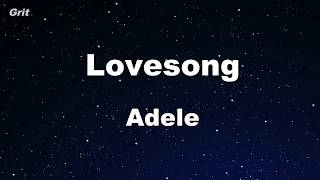 Lovesong - Adele Karaoke 【No Guide Melody】 Instrumental