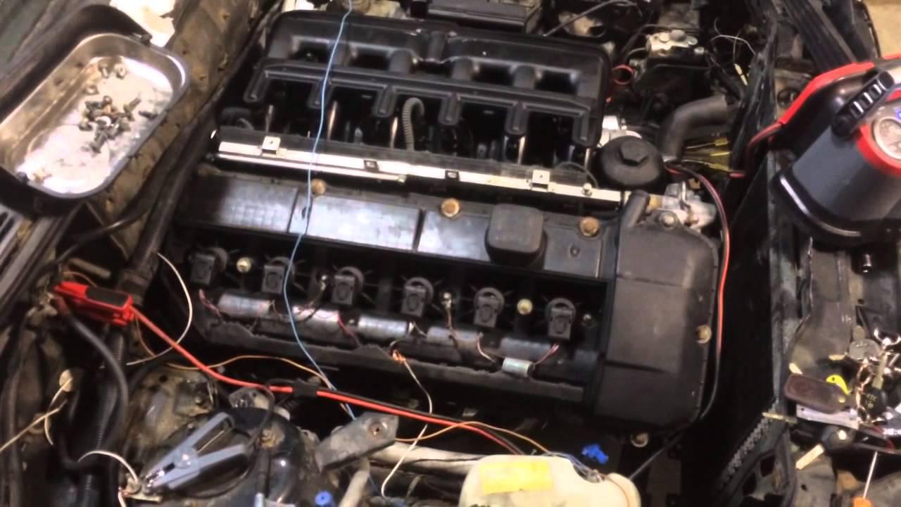 1987 bmw e30 325i M54B30 ZHP engine swap startup  YouTube