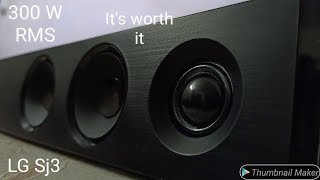 LG SJ3 Sound Bar 300W 2.1 Wireless SubWoofer | Unboxing & Review