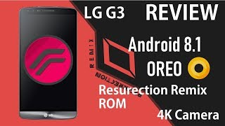 LG G3 | Resurection Remix Android 8.1 Oreo | Personalizable | Review en Español - Ayala Inc