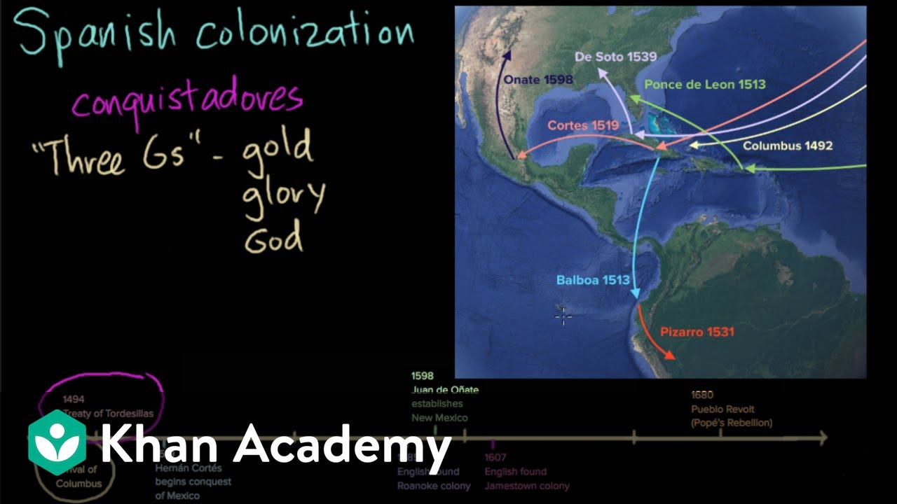 hight resolution of Spanish colonization (video)   Khan Academy