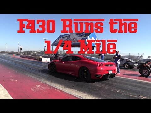 Ferrari F430 at the Drag Strip and Breakfast with the Ferrar