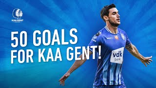 The 50 goals of Roman Yaremchuk for KAA GENT 🔵⚪️