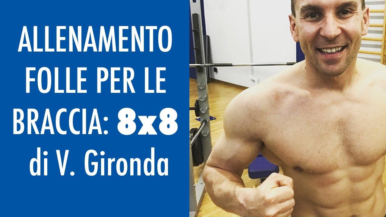 ALLENAMENTO FOLLE x LE BRACCIA 8x8 DI GIRONDA 💪💪 LE