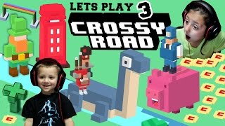 Lets Play Crossy Road Part 3! The Hunt for NESSY + LEPRECHAUN & PHONE BOX Secret Characters (FGTEEV)