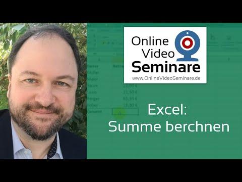 Excel: Summe berechnen