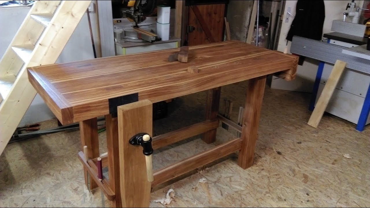 établi En Chêne Rougeworkbench Oak Red Youtube