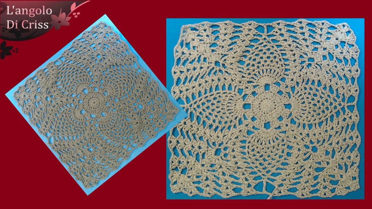 Piastrella alluncinetto  Moresca  crochet square  Cuadrado de ganchillo  YouTube