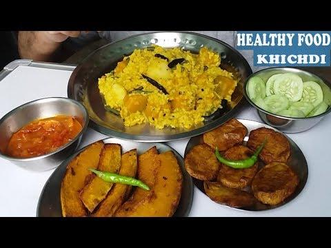Eating Healthy Food ( Khichdi)