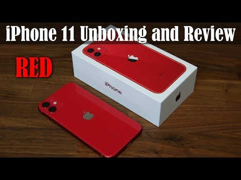 iPhone 11 Unboxing, First Time Setup and Review (RED COLOR)