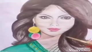 Art drawing Bangladesh girl