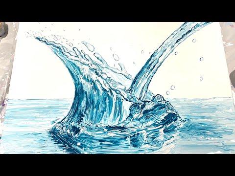(244) Pour & Splash! Fluid Acrylics Impressionism Painting - Flow Art