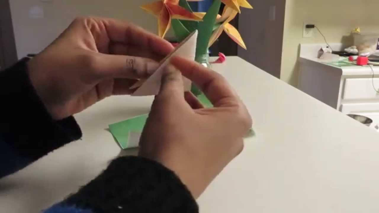 Origami 4 petal flower youtube origami 4 petal flower mightylinksfo