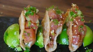 Ahi Poke Mini Tacos