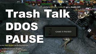 Trash Talk DDOS Pause Drama - AVS vs Antipro Shanghai Major Dota 2