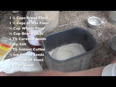 Making Black Russian Bread