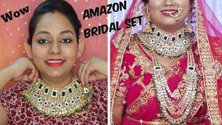 Affordable Kundan Bridal jewellery set || Amazon Jewellery