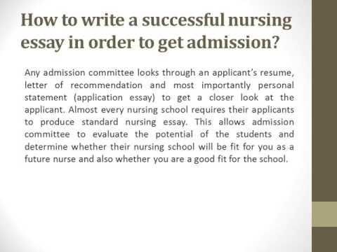Custom Nursing School Essay Help Online  Youtube Custom Nursing School Essay Help Online Science In Daily Life Essay also Healthy Food Essays  Science Essay Topics