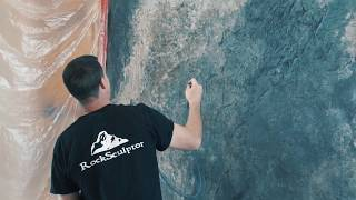 Car-VZ Vertical Concrete Carving Additive - Carved Concrete Weeping Waterfall Large Carved Concrete