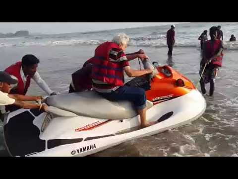 A thrilling ride on Jet ski at the Kashid beach.