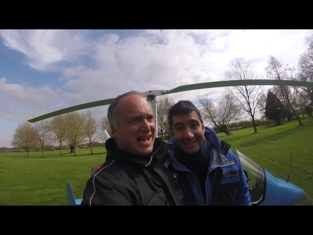 flight to kingham with giannis in a magni M16 gyroplane