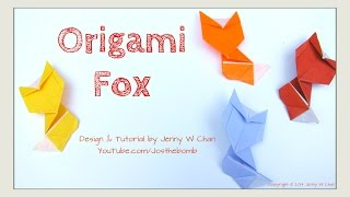 Origami Fox - How To Fold Paper Fox - Fall Crafts - Paper Crafts - Kids Crafts