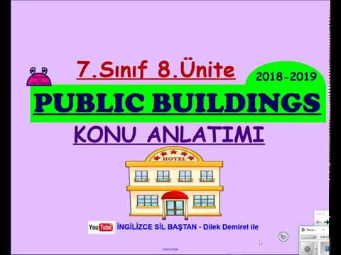 7.SINIF İNGİLİZCE 8.ÜNİTE KELİMELERİ VE KONU ANLATIMI | PUBLIC BUILDINGS