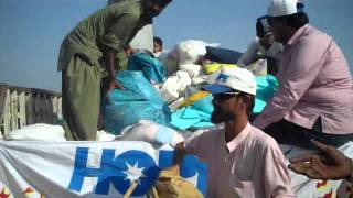 HOPE NGO Food Relief 2011- Distribution of Relief Ration in Badin