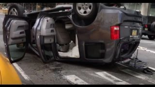 *Pre arrival* FDNY Units Responding into a Roll Over Crash in SOHO
