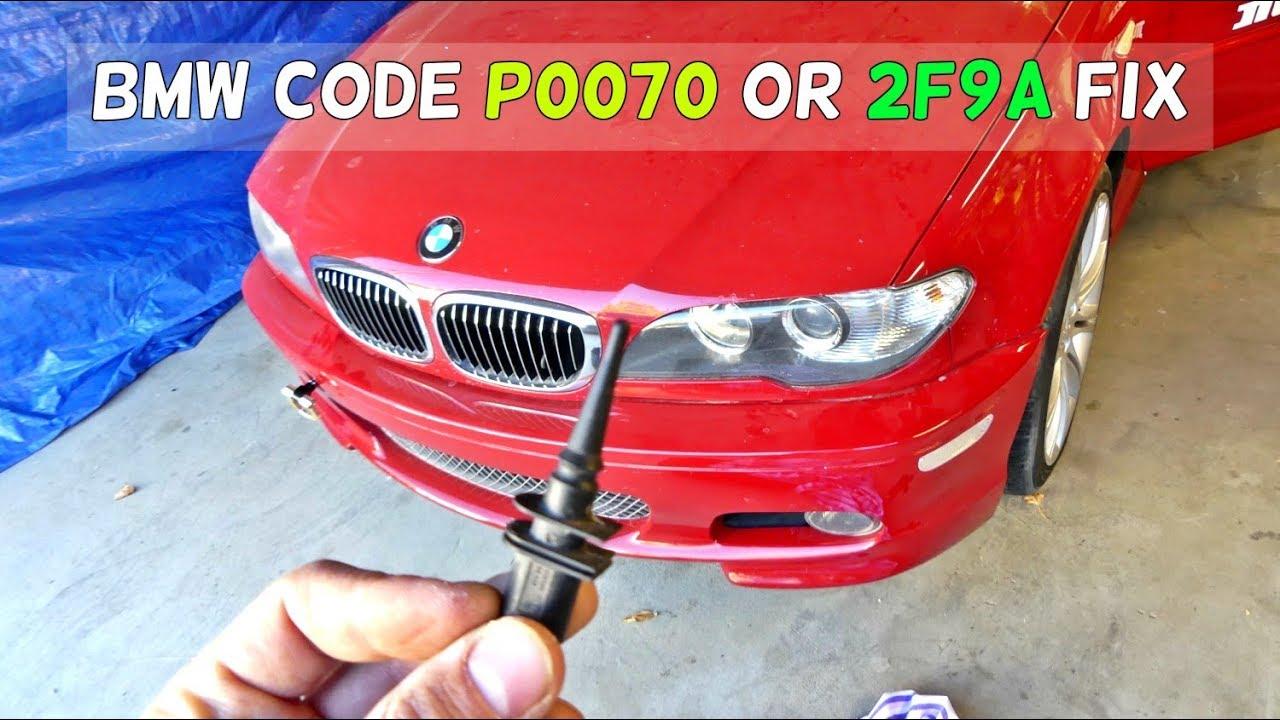 BMW CODE P0070 AMBIENT TEMPERATURE SENSOR FIX CODE P0070 2F9A