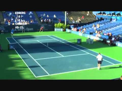 Stefan Edberg vs Jim Courier - Los Angeles 2009 (1 de 8)