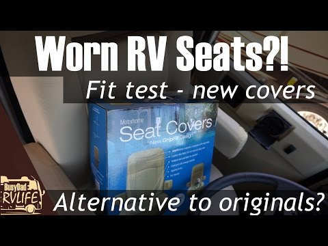 RV Designer Motorhome Grip Fit Seat covers - the fix for