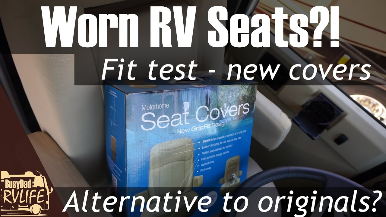 RV Designer Motorhome Grip Fit Seat covers - the fix for worn RV seats -  unboxing and fit test