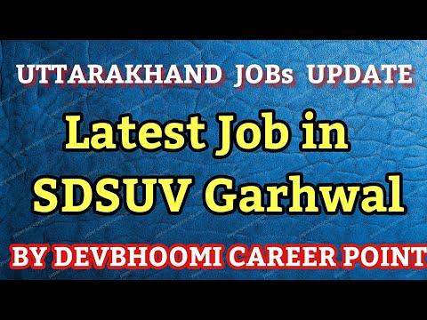 SDSUV Latest Jobs,Jobs in Sridev suman University,SDSUV JOBS,JOBS IN SDSUV