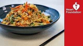 Egg fried rice - healthier recipe | Heart Foundation NZ