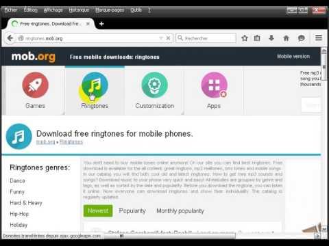 Download free ringtones for mobile phones.
