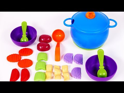 Thumbnail: Cooking Play Pretend Foods with Vegetables Playset for Children Learn Colors for Kids