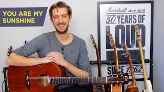 Intermediate Fingerstyle Lesson - You Are My Sunshine - Fingerpicking