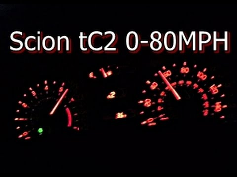 2012 Scion tC 060 MPH 080 MPH Acceleration  YouTube