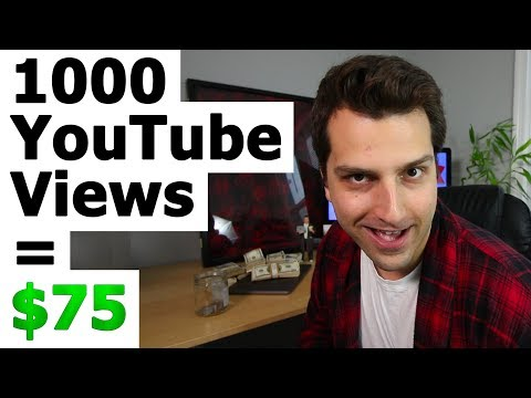 How Much Money Do You Get for 1000 Views On YouTube? The $75 Payout Method!
