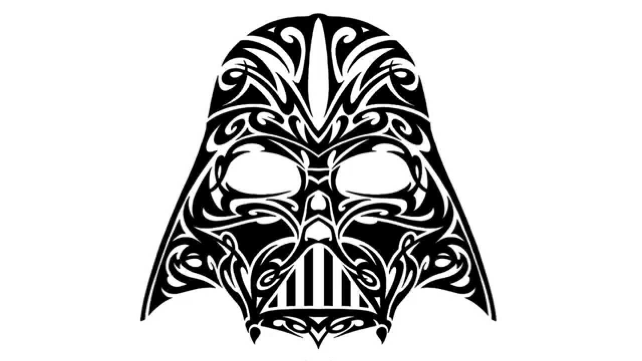 How to Draw a Tattoo Tribal Darth Vader  YouTube