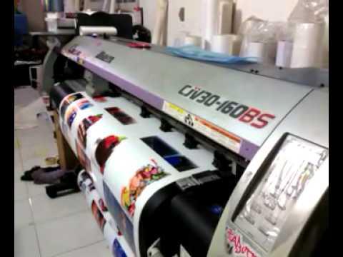 CJV30-160 BS memakai tinta ColorLab 2