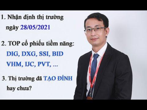 Chứng khoán hàng ngày: Nhận định thị trường ngày 28/05/2021. VNINDEX đã tạo đỉnh hay chưa?