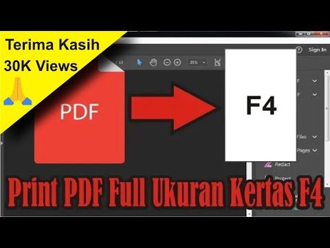 Cara Print PDF Full Ukuran Kertas F4 di Acrobat Reader DC