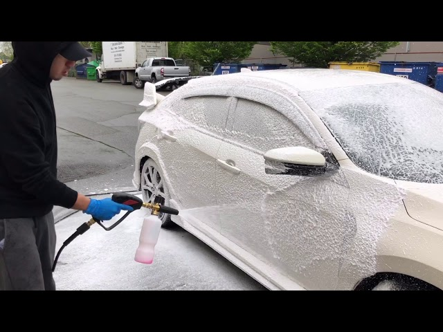 CIVIC TYPE R for a STEAM CLEAN & WASH EP:12