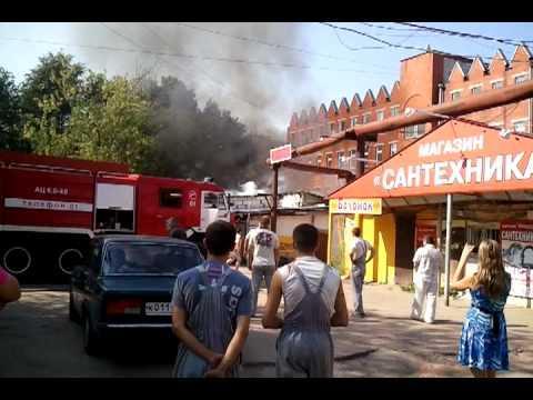 Пожар автосервиса в Калуге