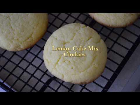 Baking Lemon Cake Mix Cookies