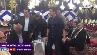 حمدى والبدرى والعامرى وشوبير يقدمون العزاء فى أحمد ماهر.. فيديو وصور
