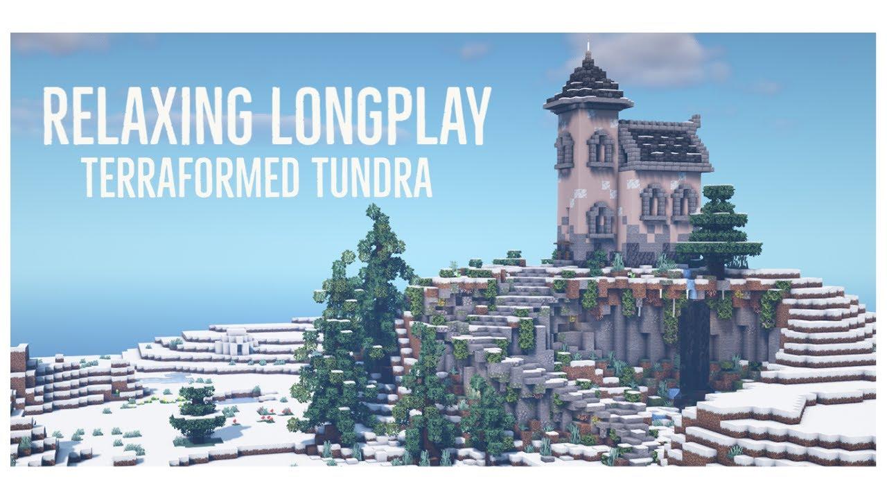 Minecraft Relaxing Longplay - Terraforming & Base Building, Custom Trees (No Commentary) 1.17.1