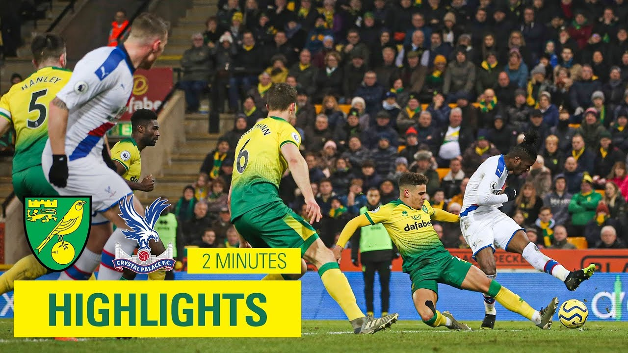 Norwich City 1-1 Crystal Palace   2 Minute Highlights